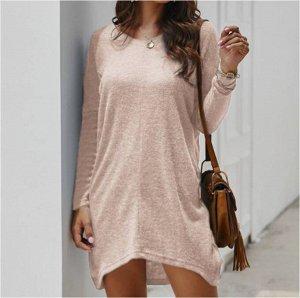 Платье Платье. Материал: Смешанный хлопок. Размер: (бюст, длина см) S (116, 79), M (120, 80), L (124, 81), XL (128, 82), 2XL, 3XL.