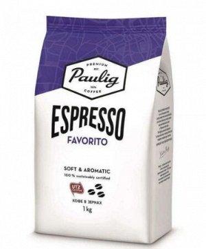 Кофе Paulig Espresso Favorito, 1кг зерно