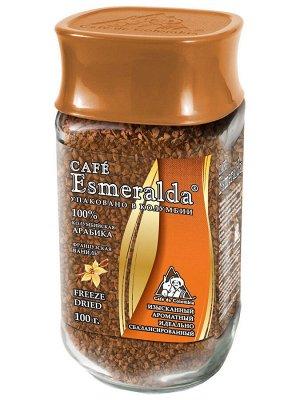 Кофе растворимый Cafe Esmeralda Французская ваниль, 100гр (стекло)