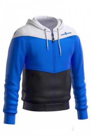 Синий Состав: Полиэстер - 100% Юниорская тренировочная куртка унисекс с капюшоном - функциональна, практична и незаменима для занятий спортом. Выполнена из 100% полиэстера, имеет легкий вес, компактна