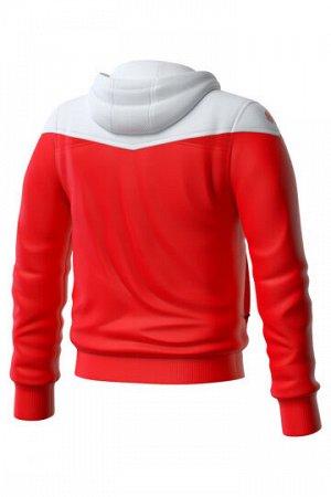 Красный Состав: Полиэстер - 100% Юниорская тренировочная куртка унисекс с капюшоном - функциональна, практична и незаменима для занятий спортом. Выполнена из 100% полиэстера, имеет легкий вес, компакт
