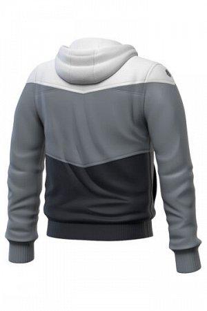 Серый Состав: Полиэстер - 100% Тренировочная куртка унисекс с капюшоном - функциональна, практична и незаменима для занятий спортом. Выполнена из 100% полиэстера, имеет легкий вес, компактна в сложенн