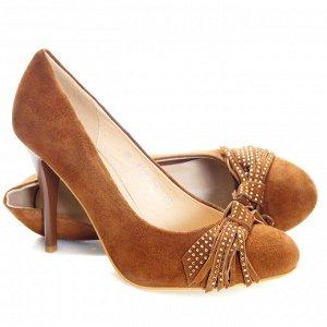 Туфли Страна производитель: Китай Полнота обуви: Тип «F» или «Fx» Материал верха: Замша Цвет: Коричневый Материал подкладки: Натуральная кожа Стиль: Городской Форма мыска/носка: Закругленный Каблук/По