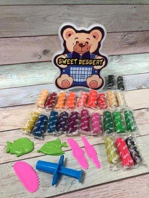 Большой набор теста для лепки с формочками Медведь