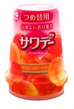 Освежитель воздуха для туалета «Peach»/«Sawaday–аромат персика в шампан», 140 г (сменная упако