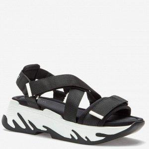 807279/01-01 черный текстиль женские туфли открытые