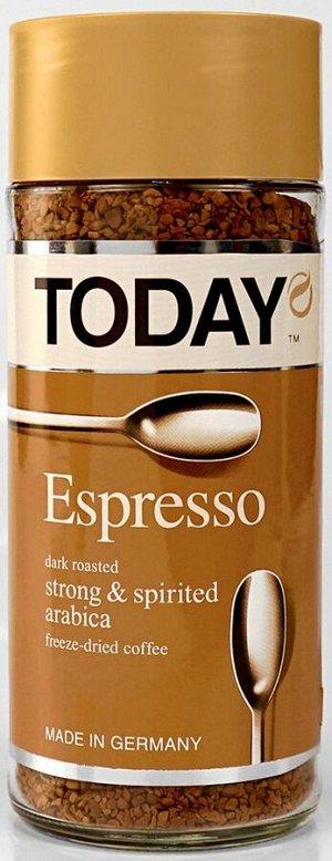 """Кофе Today """"Espresso"""", растворимый, 95г стекло"""