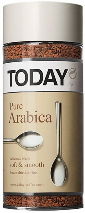 Кофе растворимый TODAY PureArabica, 95г стекло