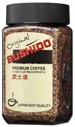 """Кофе Bushido """"Original"""", растворимый, 100г стекло"""