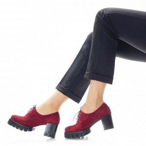 Ботильоны Страна производитель: Китай Полнота обуви: Тип «F» или «Fx» Материал верха: Замша Цвет: Бордовый Материал подкладки: Натуральная кожа Стиль: Городской Каблук/Подошва: Каблук Высота каблука (