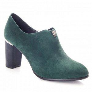Ботильоны Страна производитель: Китай Полнота обуви: Тип «F» или «Fx» Материал верха: Замша Цвет: Зеленый Материал подкладки: Натуральная кожа Стиль: Городской Форма мыска/носка: Закругленный Каблук/П
