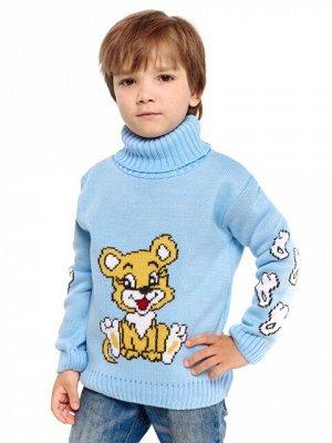 Свитер Количество в упаковке: 1; Артикул: ТРИС-845/1; Цвет: Голубой; Ткань: Пряжа; Состав: 50% шерсть,50% акрил; Цвет: Бирюзовый | Голубой Свитер детский с жаккардовым рисунком
