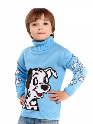 Свитер Количество в упаковке: 1; Артикул: ТРИС-861/; Цвет: Голубой; Ткань: Пряжа; Состав: 50% шерсть,50% акрил; Цвет: Голубой Свитер детский с жаккардовым рисунком