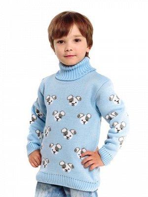 Свитер Количество в упаковке: 1; Артикул: ТРИС-866/; Цвет: Голубой; Ткань: Пряжа; Состав: 50% шерсть,50% акрил; Цвет: Голубой Свитер детский с жаккардовым рисунком