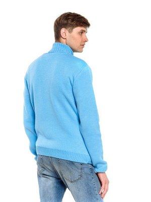 Свитер Количество в упаковке: 1; Артикул: ТРИС-789м/; Цвет: Голубой; Ткань: Пряжа; Состав: 50% шерсть,50% акрил; Цвет: Красный | Синий | Голубой Свитер мужской