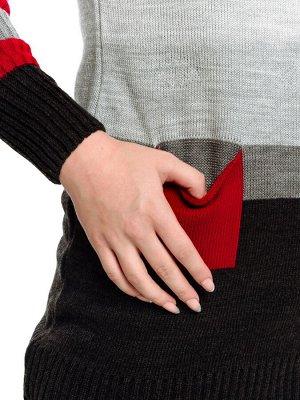 Туника Количество в упаковке: 1; Артикул: ТРИС-800/; Цвет: Серый; Ткань: Пряжа; Состав: 50% шерсть,50% акрил; Цвет: Серый Туника женская