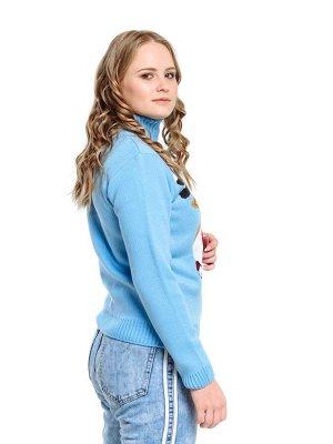 Свитер Количество в упаковке: 1; Артикул: ТРИС-789ж/; Цвет: Голубой; Ткань: Пряжа; Состав: 50% шерсть,50% акрил; Цвет: Красный | Синий | Голубой Свитер женский
