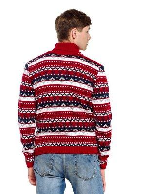 Свитер Количество в упаковке: 1; Артикул: ТРИС-776/1; Цвет: Красный; Ткань: Пряжа; Состав: 50% шерсть,50% акрил; Цвет: Красный | Синий Свитер мужской