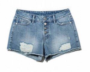 CON-132 Шорты джинсовые (Conte) с эффектом потертости