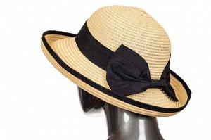 Соломенная летняя шляпка молочного цвета