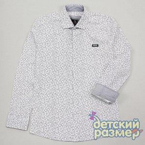 Рубашка Состав:97% хлопок, 3% лайкра Рубашка с длинным рукавом - выполнена из тонкого и приятного на ощупь текстиля- застегивается на удобные пуговицы- на груди стильная нашивка с логотипом бренда- кл