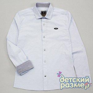 Рубашка на кнопочках ГОЛУБОЙ