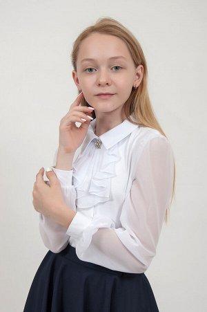 Ш 20 Блузка для девочки Белый