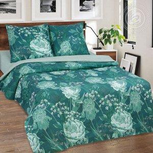 Постельное бельё из поплина 2 спальное - АРТ - DE LUXE - Калипсо
