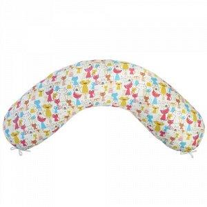"""Подушка для беременных """"MamaRelax"""" 25 х 170 - ТР - Веселые котята розовый"""