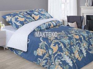 Постельное бельё из сатина на резинке 2 спальное с Евро простыней - А - Калипсо
