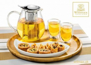 WILMAX Thermo Glass Заварочный чайник с металлическим фильтром 1300мл WL-888803/A