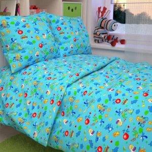 Комплект постельного белья Улыбашка-Зоопарк Ясли