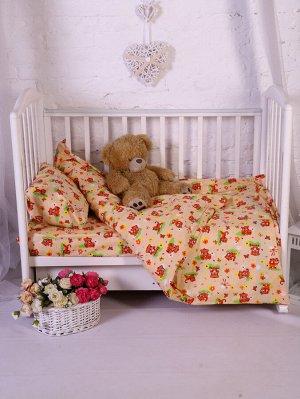 Комплект постельного белья Улыбашка Кот-Тигр Ясли