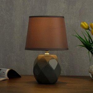 Лампа настольная 08947/1 E14 40Вт серый 17х17х28 см