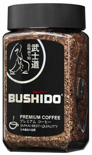 """Кофе Bushido """"Black Katana"""", растворимый, 100г стекло"""