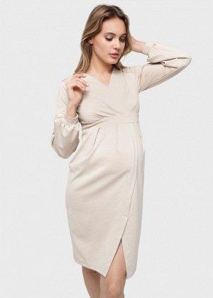 """Платье """"Кэрол"""" для беременных и кормящих; бежевый"""