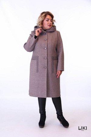 """Пальто """"Ника Liki"""" (коричневый)"""