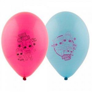 """Воздушный шар латексный с рисунком 12"""" куклы"""