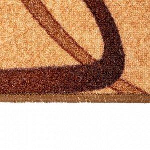 Палас «СЕРПАНТИН» размер 80х125 см, цвет бежевый