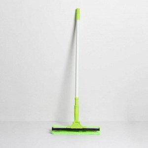 Окномойка с телескопической металлической ручкой и сгоном Доляна, 33?7?70(135) см, микрофибра