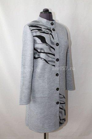 Пальто ж0462 сумерки_чёрный