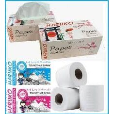 Грандиозная продуктовая закупка! Соусы, масло, макароны  — Трехслойная туалетная Бумага, салфетки HARUKO  — Туалетная бумага и полотенца