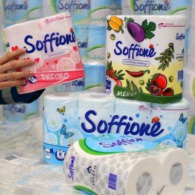 Т/бумага,полотенца PAPIA,Zewa,FAMILIA ,Kleo,PLUSHE,Soffione — Бумага туалетная Soffione — Туалетная бумага и полотенца