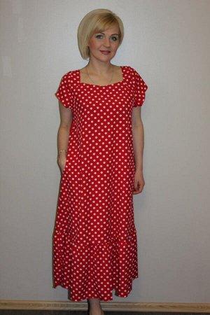 Платье женское ПЭ100% ткань ниагара Платье двух расцветок: мелкий горох и крупный горох. Без выбора размера гороха.