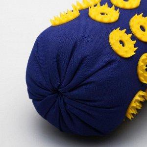 Аппликатор игольчатый «Валик», 90 колючек, синий, 38х10 см