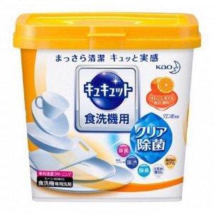 """259844 KAO """"Cu Cut"""" Порошок для ПММ с эффектом лимонной кислоты, аромат апельсина 680 гр 1/12"""