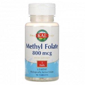 KAL, Метилфолат, 800 мкг, 90 таблеток