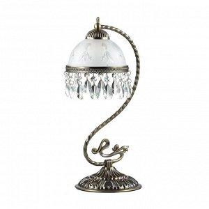 2989/1T CLASSI LN16 107 бронзовый/стекло/хрусталь Настольная лампа E27 60W 220V AVIFA