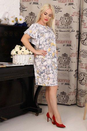 Платье Бренд: Натали Ткань: суперсофт Состав: 80% п/э, 20% хлопок Платье цельнокроеное, расклешенное к низу, с вытачкой в области груди. Вырез горловины обработан обтачкой. Область проймы оформлена кр