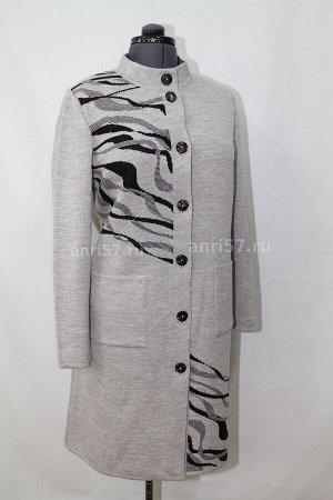Пальто ж0462 сур.кофе_чёрный